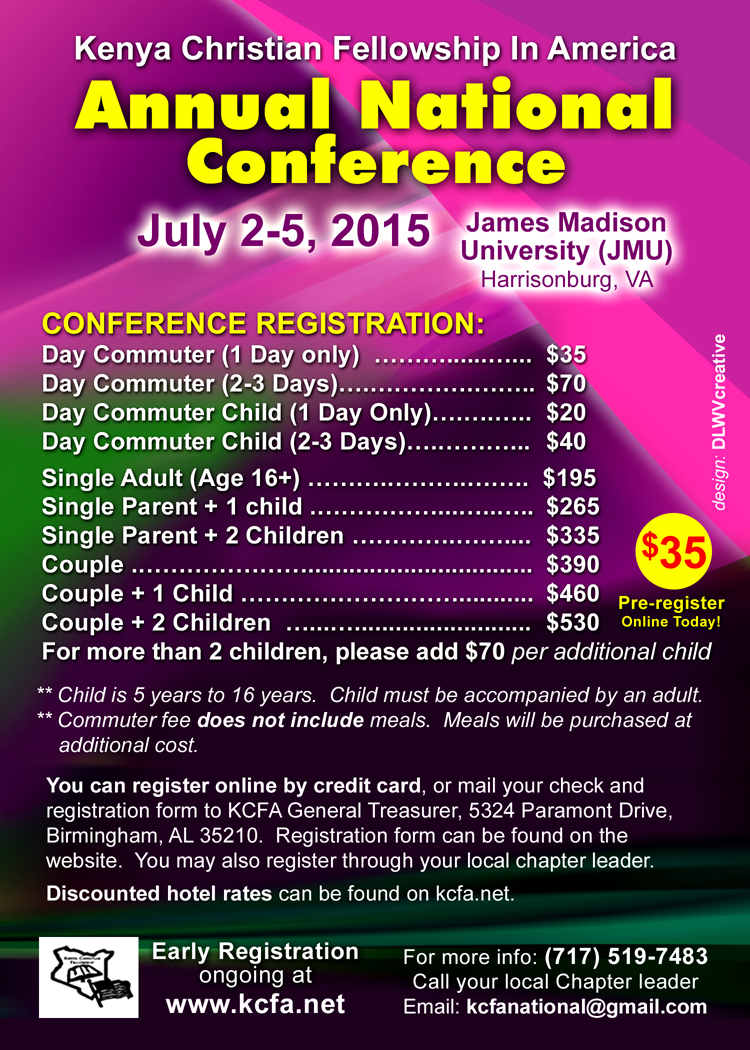 2015 KCFA Annual Conference - reverse