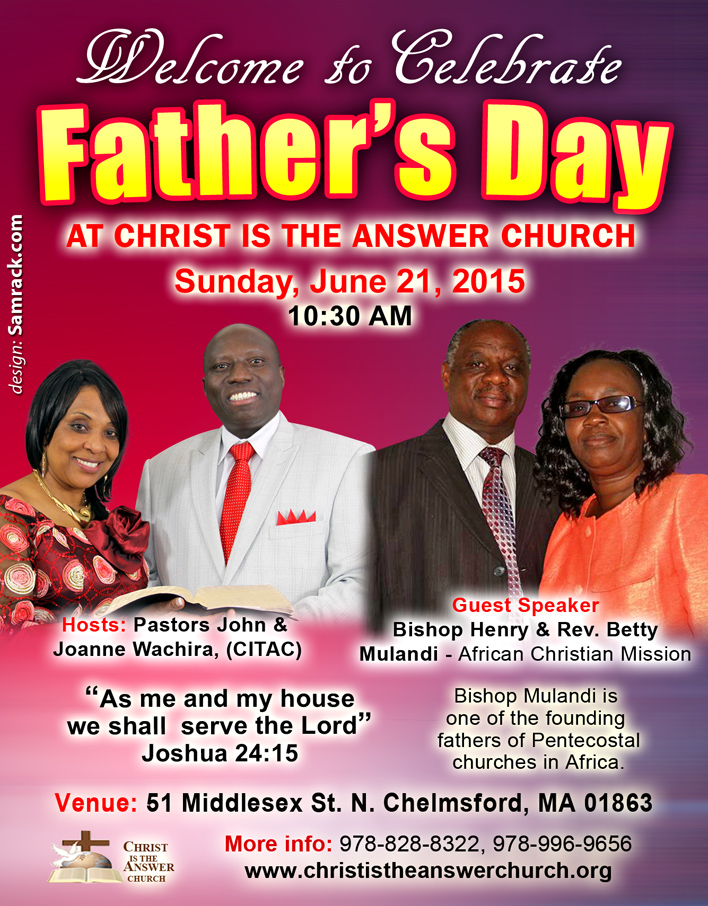 Celebrate Father's Day at Christ Is The Answer Church this ...