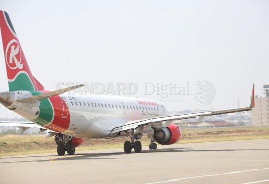 KQ plane carrying Mama Sarah Obama