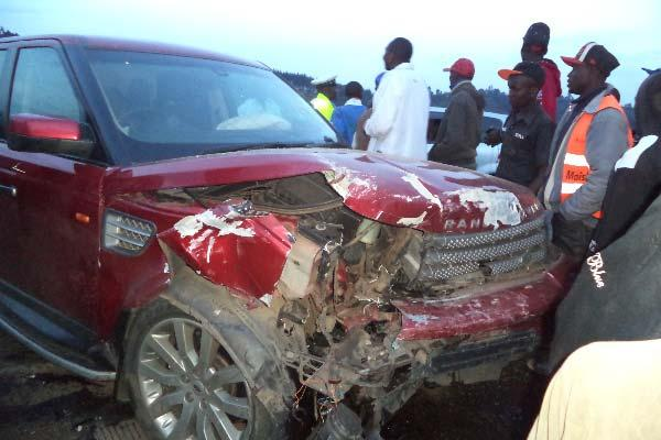 Pastor Nganga's car after the accident.