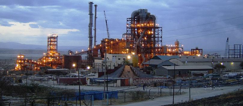 Tata factory at Lake Magadi.