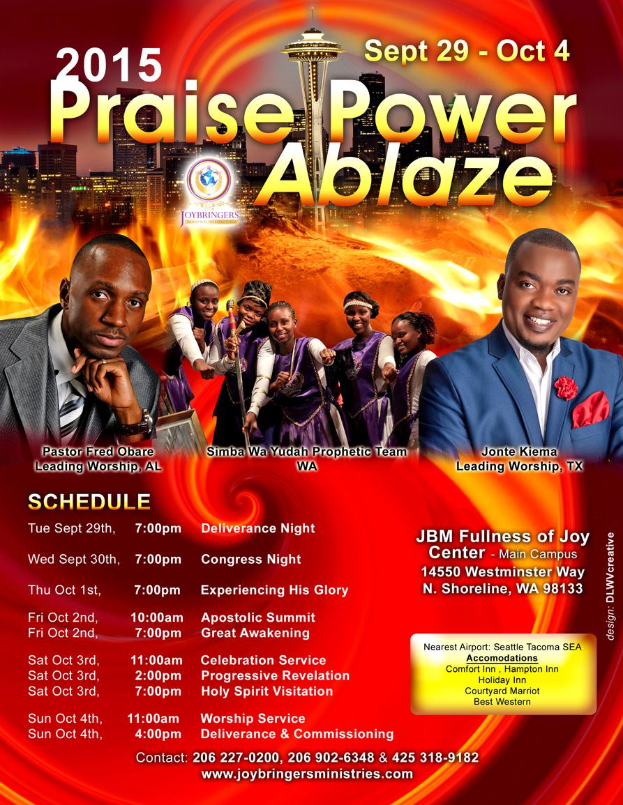 Praise Power Ablaze 2015 - reverse