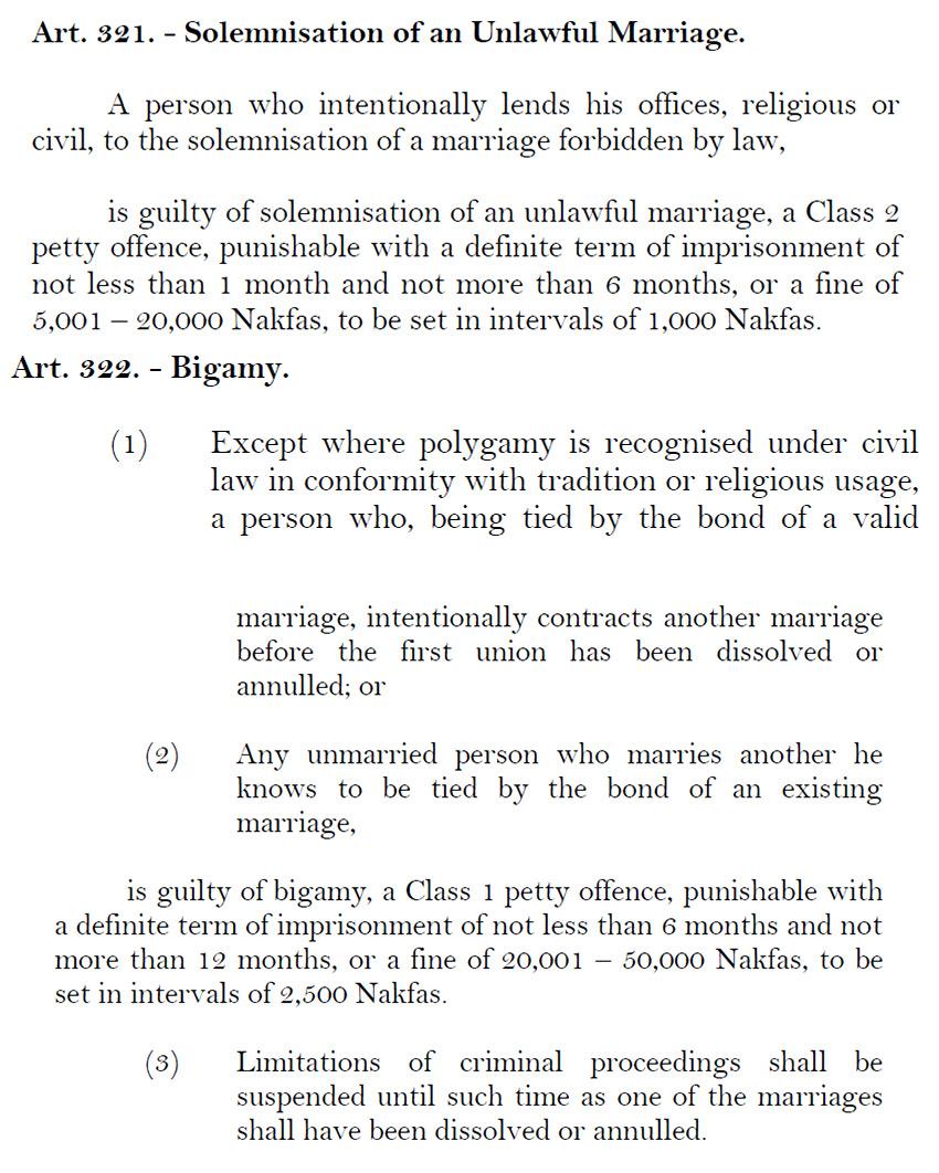 ERITREA-MARRIAGE-LAW