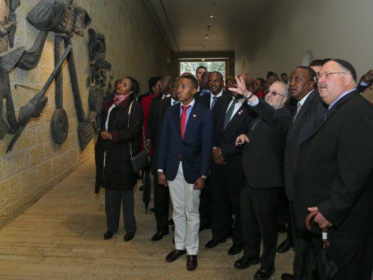 Honor Killing Jew: Video/Photos:Uhuru Attends Memorial To Honour Six Million