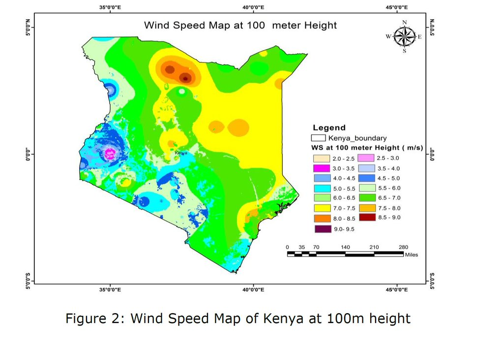 wind speeds across kenya a key indicator of wind energy potential