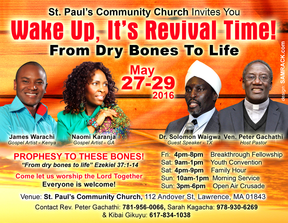 St Pauls Community Church invites You to Wake upIts REVIVAL