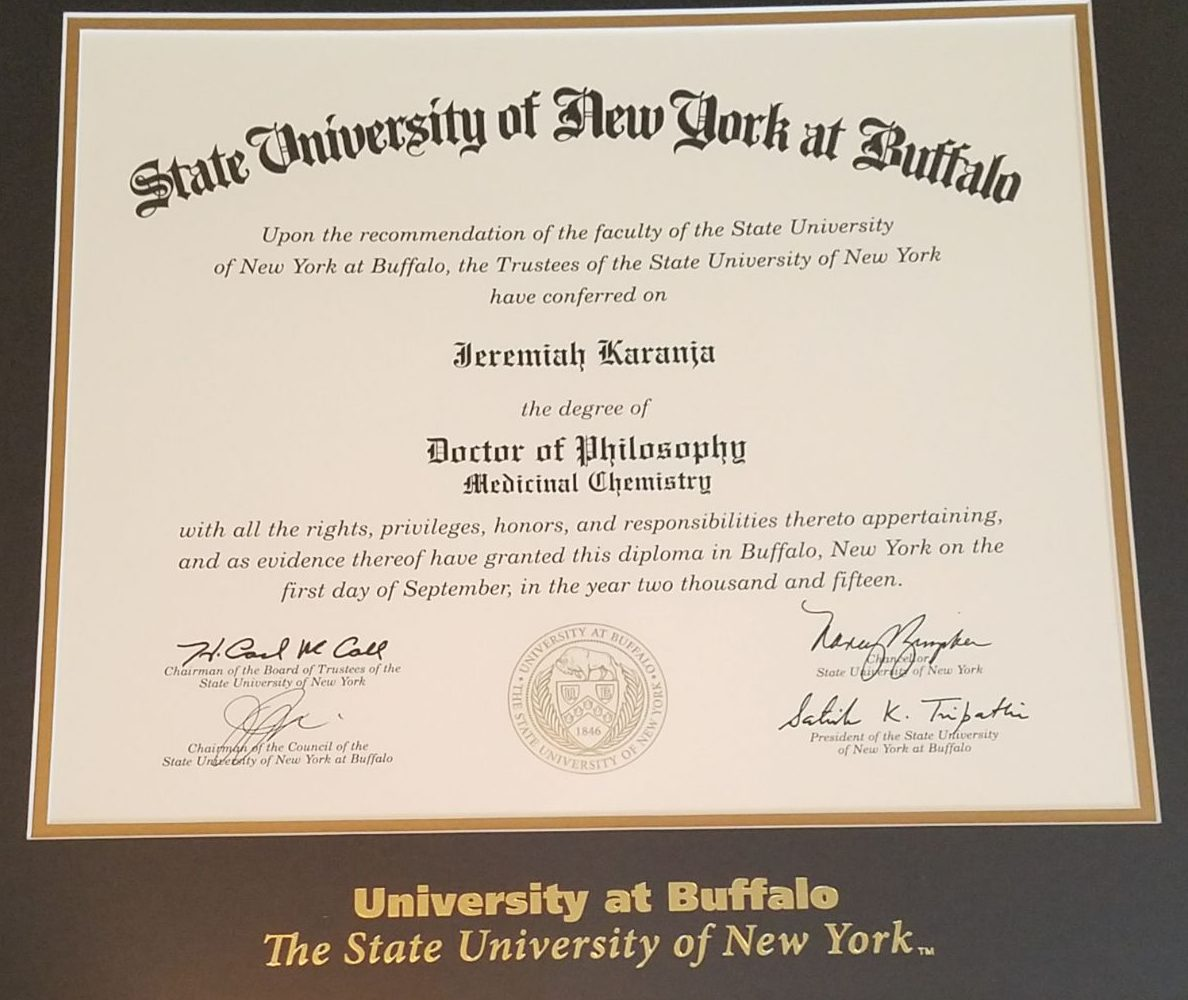 University at buffalo the state university of new york confers the degree certificate was presented to his two uncles peter n gitau and paul karanja in the presence of his parents and other family members on march 9th aiddatafo Image collections