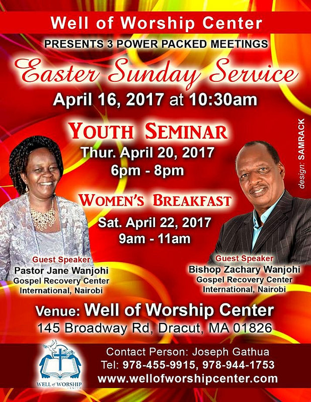 "Well of Worship Center ""Easter Sunday Service"" April 16th ..."