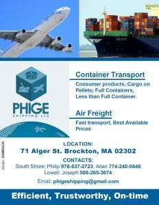 PHIGE SHIPPING LLC USA TO KENYA FOR ALL YOUR SHIPPING NEEDS  978-837-2723