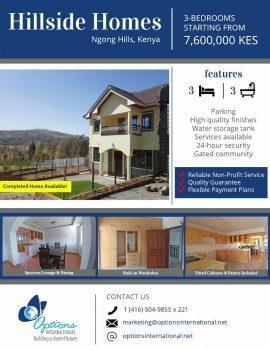 Hillside Homes Ngong Hills,Kenya 3 Bedrooms Starting 7.6M