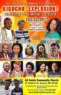 "All Saint's Community Church ""KIGOCHO EXPRESS"" Raising The Altar of God Oct 22 2017@10Am & 2pm to 7Pm"