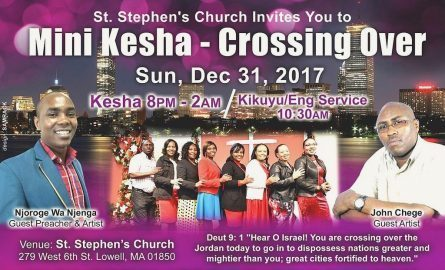 MINI -KESHA CROSSING OVER SUN.DEC 31ST 2017 8PM TO 2AM ST STEPHEN'S CHURCH LOWELL,MASSACHUSETTS