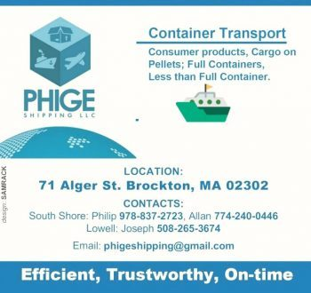 PHIGE SHIPPING LLC FOR ALL YOUR SHIPPING NEEDS USA TO KENYA WWW.PHIGESHIPPING.COM