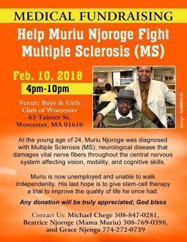 MEDICAL FUNDRAISER:HELP MURIU NJOROGE FIGHT MULTIPLE SCLEROSIS(MS)