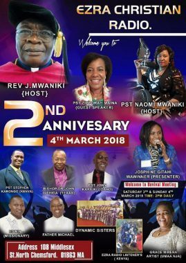 EZRA CHRISTIAN RADIO 2ND ANNIVERSARY MARCH 4TH 2018