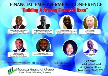 Financial Empowerment Conference: Building A Strong Financial Base April 28 2018 @8am to 4PM Holiday Inn Hotel 4 Highwood Drive Tewksbury Massachusetts  All are Invited!