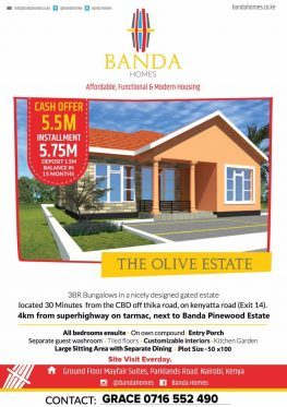 Banda Homes/Properties 50 By 100  Christmas Offer 2.85M Call: Maggie 254-716-552490 Ref SAMRACK