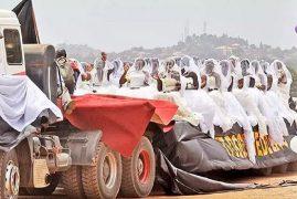 200 BRIDES RIDE IN A TRUCK TO THEIR MASS WEDDING IN UGANDA – PHOTOS