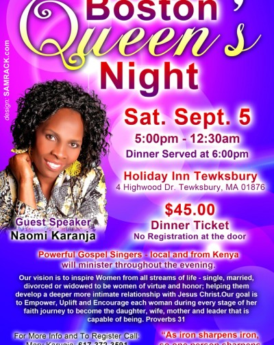 All Ladies Welcome to Boston Queens Night 2015