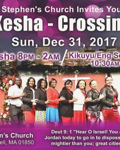 Mini -Kesha Crossing Over Sun.Dec 31st 2017 8Pm to 2Am St Stephen's Church Lowell,Massachusetts