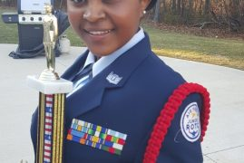 AFJROTC drill competition in Lowell,Massachusetts