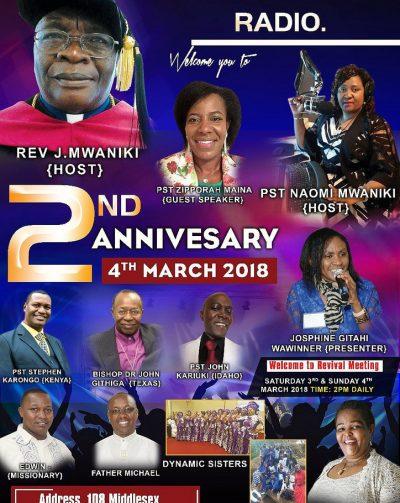 EZRA CHRISTIAN RADIO 2ND ANNIVERSARY MARCH 4TH 2018