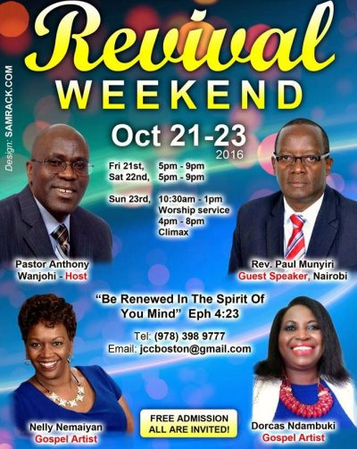 Revival Weekend: Jesus Celebration Center,Lowell Massachusetts