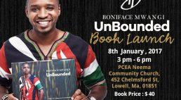 Boniface Mwangi Unbounded Book Launch Boston January 8  2017 @3Pm PCEA NEEMA Lowell,Massachusetts