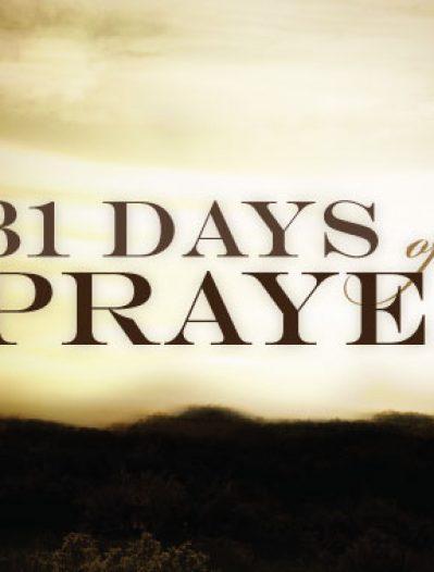 31-DAY PRAYER FOCUS
