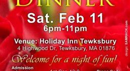 "Women of Hope Boston presents an ""Night of fun  Valentines  Dinner"" Sat.Feb 11 2017 @6pm"
