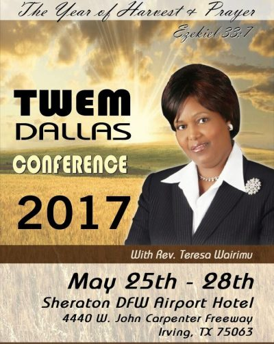 TWEM DALLAS CONFERENCE MAY 25th-28th  2017 SHARATON DFW AIRPORT