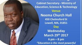 Kenya Education, C.S Dr. Fred Matiangi, Town Hall Meeting @ Lowell, MA