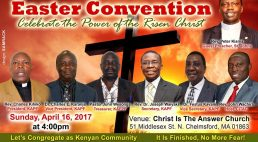 """Invitation:KAPF Easter Convention """"Celebrate the Power of the Risen Christ"""" Sunday,April 16,2017 @4Pm Venue :Christ is the Answer Church 51 Middlesex St.N.Chelmsford,MA"""