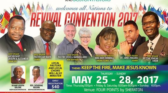 REVIVAL CONVENTION 2017 May 25th-28,2017 @Four Points by SHERATON Wakefield,Massachusetts
