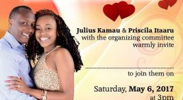 Pre-Wedding Party Invitation: Julius Kamau & Priscilla Itaaru Saturday May 6th 2017 3Pm @ St Stephens Church,Lowell,Massachusetts