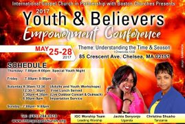 International Gospel Church Presents Youth & Believers Empowerment Conference May 25-28 2017