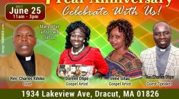 """7th Year Anniversary Calvary Evangelical Church """"Celebrate With Us"""" June 25th 2017 11am to 3Pm"""