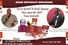Invitation:St Stephens Church Lowell Book Signing Event Sun.June 4th 2017 10:30Am Guest & Author Rev.Canon.Dr.John Karanja