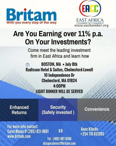 BRITAM BOSTON,MA EVENT SAT JULY 8 2017 TIME : 4PM @RADISSON HOTEL CHELMSFORD|LOWELL