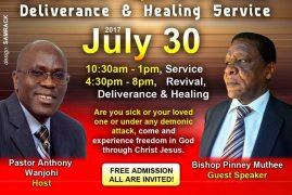 Jesus Celebration Center:1 Day Revival Deliverance & Healing Service July 30th 2017