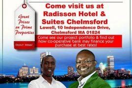 Golden Pearl Properties Ltd Boston-Lowell- Tour Diaspora Presentation Radisson Hotel Saturday July 23rd 2017 @4pm   to   9Pm