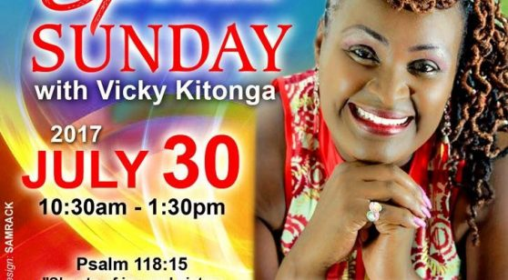 Special Sunday  with Min.Vicky Kitonga @ Well of Worship  Center  Dracut,MA July 30th 2017from 10:3-Am to 1:30Pm