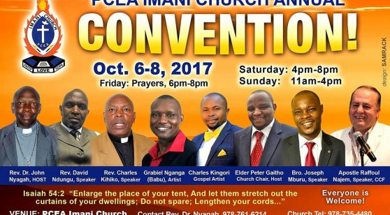 PCEA IMANI CHURCH ANNUAL CONVENTION Oct 6-8 2017