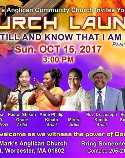 "St Marks Anglican Community Church ""Church Launch"" Sun.Oct 15th 2017 @3Pm"