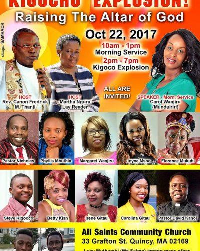 "All Saint's Community Church  ""KIGOCHO EXPRESS"" Raising The Altar of God Oct 22 2017@10Am"
