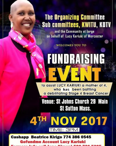 The organizing Committee Sub Committee,KWITU,KDTV Lucy Kariuki Fundraising Event Nov 4th 2017@3PM