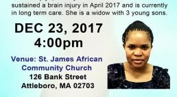 Please join us for ANNE OPIYO Medical Fundraiser Dec 23rd 2017 4:PM St James African Community Church 126 Bank St Attleboro,MA