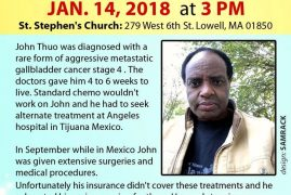 Urgent Community Appeal JOHN THUO Jan 14th 2018 @ 3PM St Stephen's Church Lowell,MA 279 West 6th Street,Massachusetts