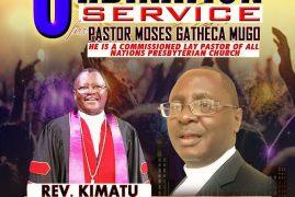 ORDINATION OF PASTOR MOSES GATHECHA MUGO SUNDAY, OCTOBER 28, 2018