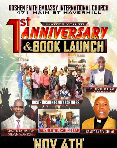 Goshen Faith Embassy International Church 1st Anniversary & Book Launch Nov 4th 2018